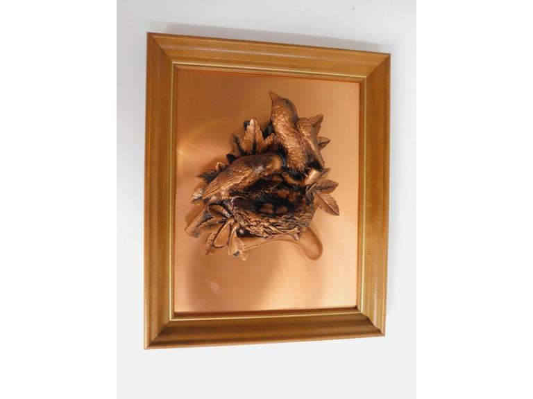 Framed 3-D Copper Picture