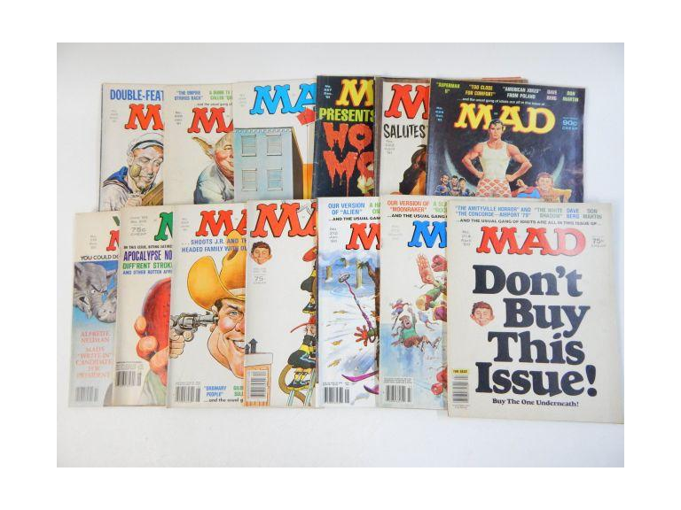 Collection of 1981 & 1982 Mad Magazines