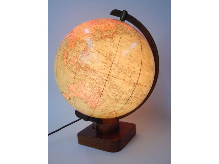 Cram's Light-Up Glass World Globe