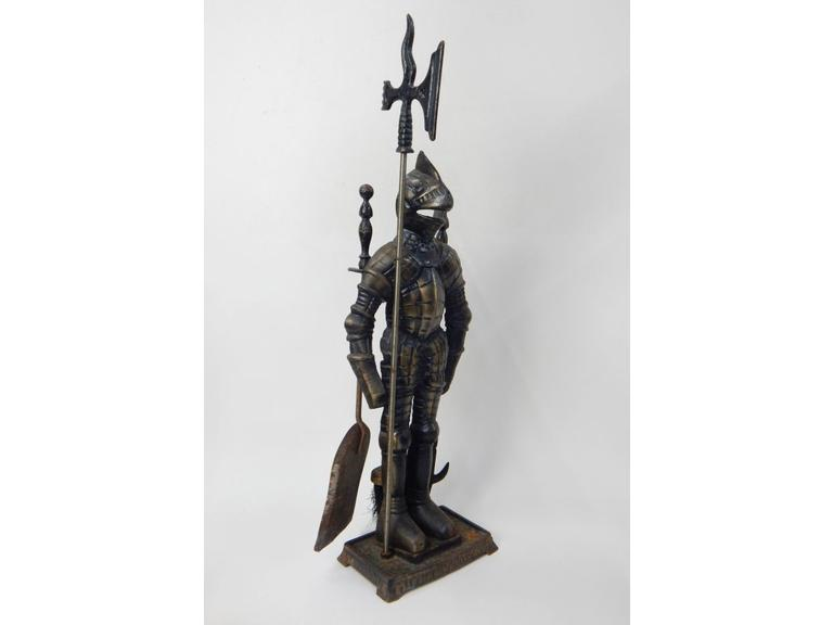 Cast Iron Knight Fireplace Tool Set