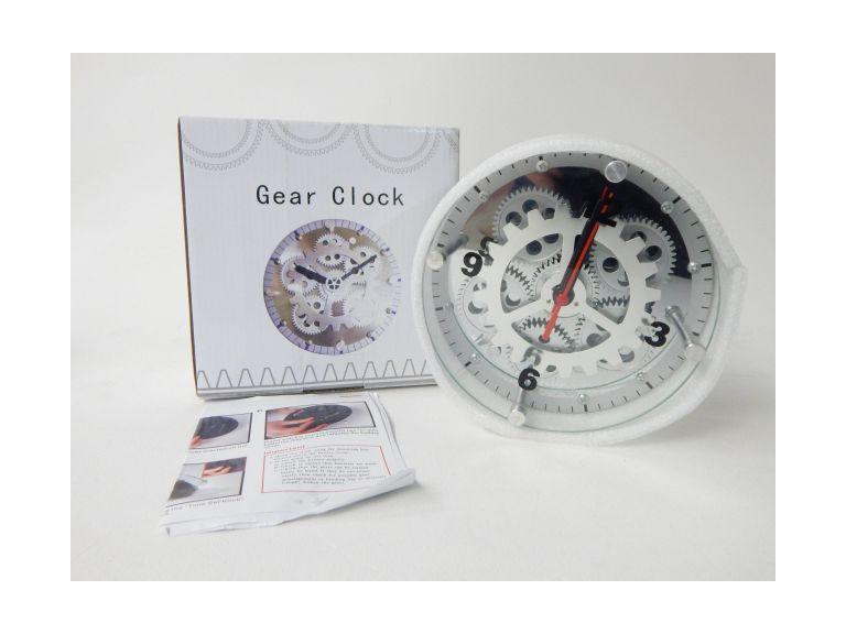 Small Glass Face Gear Clock
