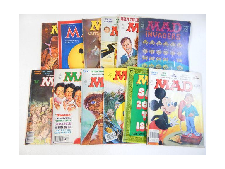 Collection of 1982 & 1983 Mad Magazines