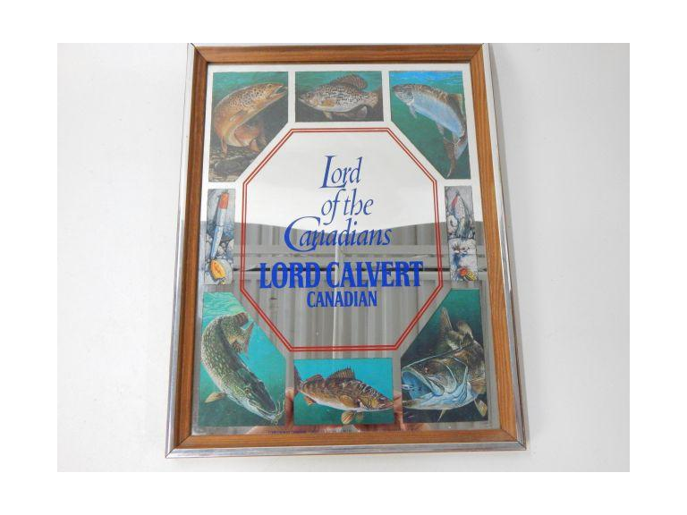 Lord Calvert Whiskey Mirrored Sign