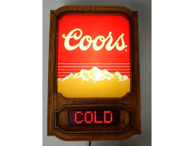 Coors Beer Light-Up Scrolling Sign