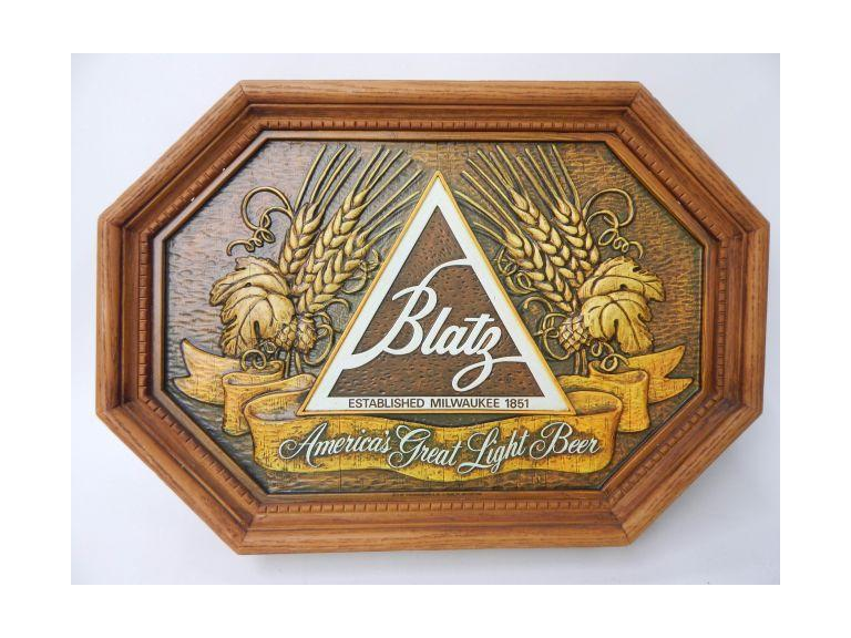 Blatz Beer Molded Plastic Sign