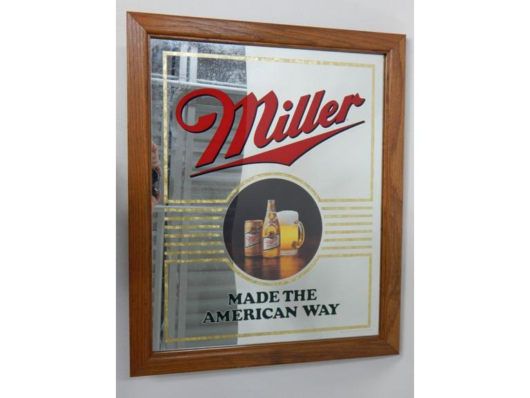 Miller Beer Bar Mirror