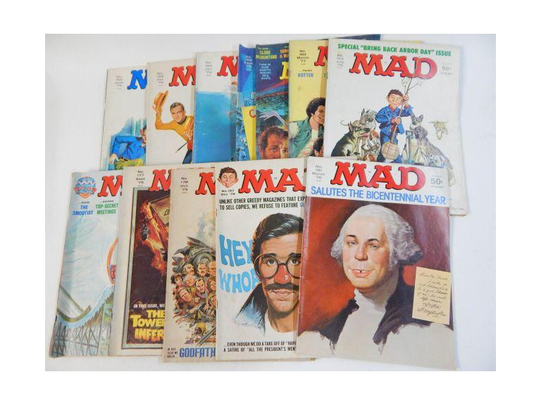 Collection of 1975, 1976 & 1977 Mad Magazines