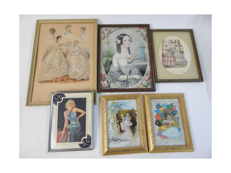 Framed Victorian and Modern Lady Images