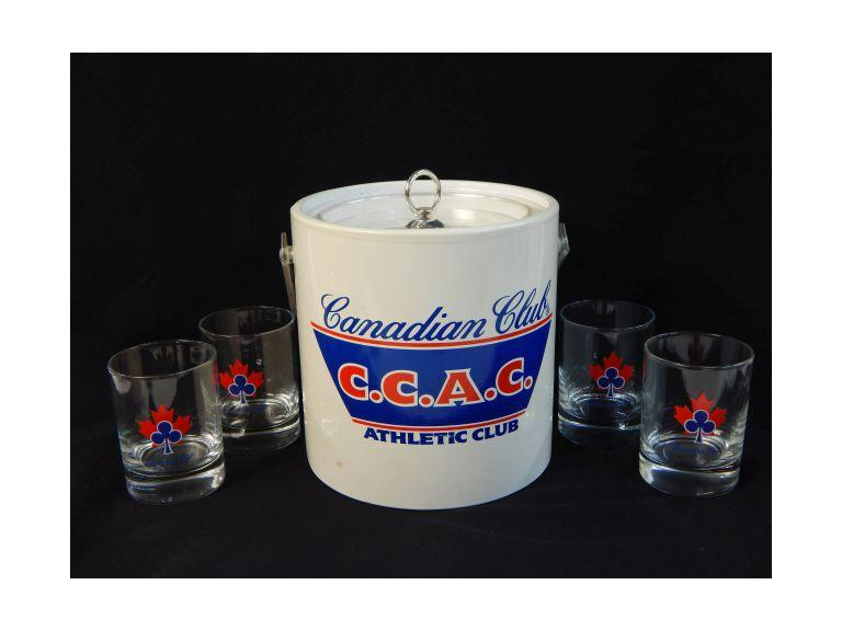 Canadian Club Ice Bucket and Glass Set