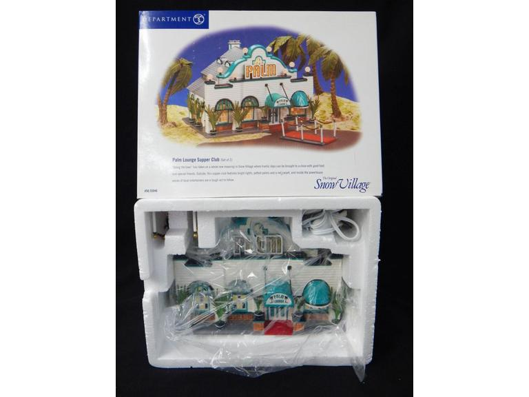 Dept 56 Snow  Village Palm Lounge