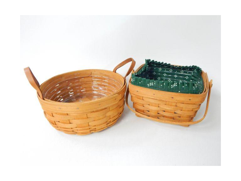 Longaberger Baskets W/Loners