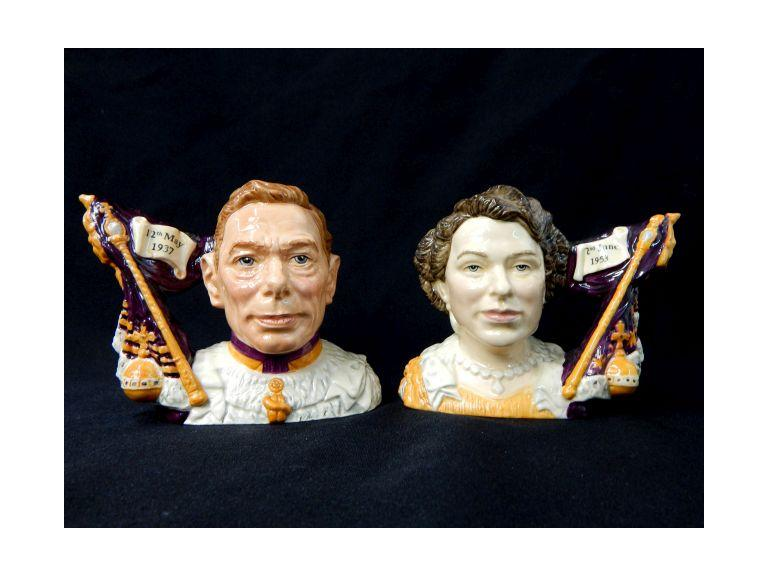 Royal Doulton King & Queen Character Jugs