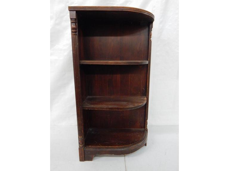 Old Wooden Corner Shelving Unit