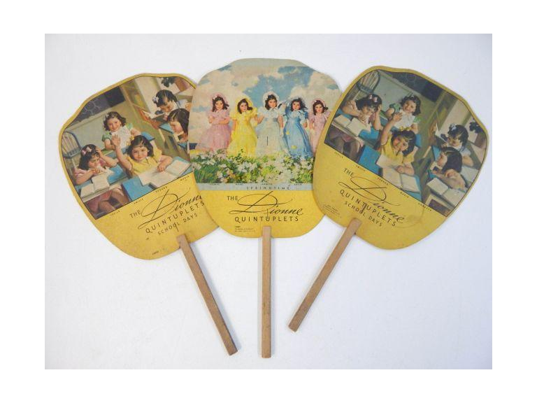Vintage Advertising Hand Fans