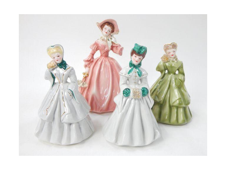 Florence Ceramics Victorian Lady Figurines