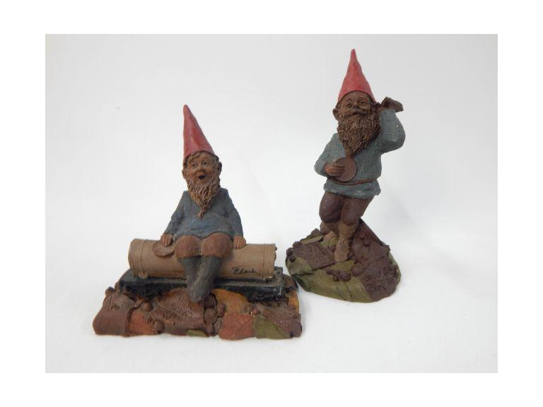 Tom Clark Orville and Tank Gnome Figurines