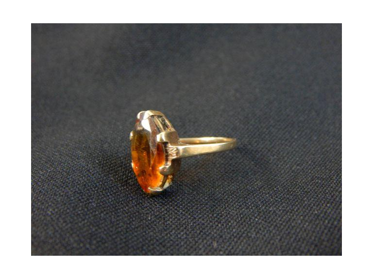 10kt. Gold & Amber Stone Ring