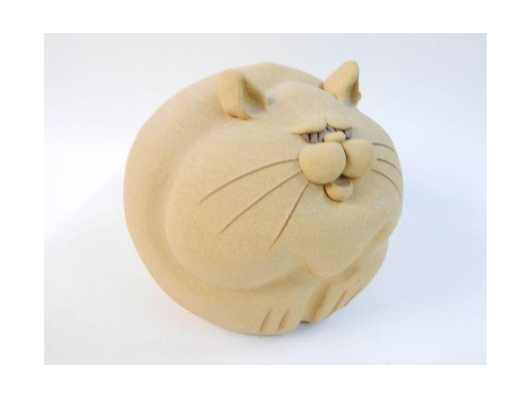 Sandstone Pottery Cat Coin Bank