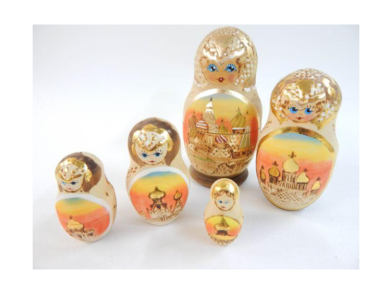 Hand Painted Wooden Nesting Doll