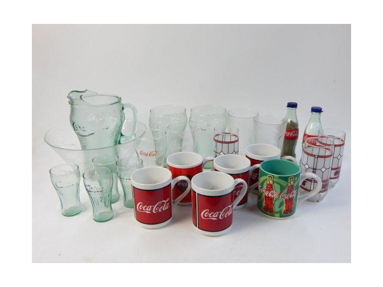 Large Coca-Cola Glassware Collection