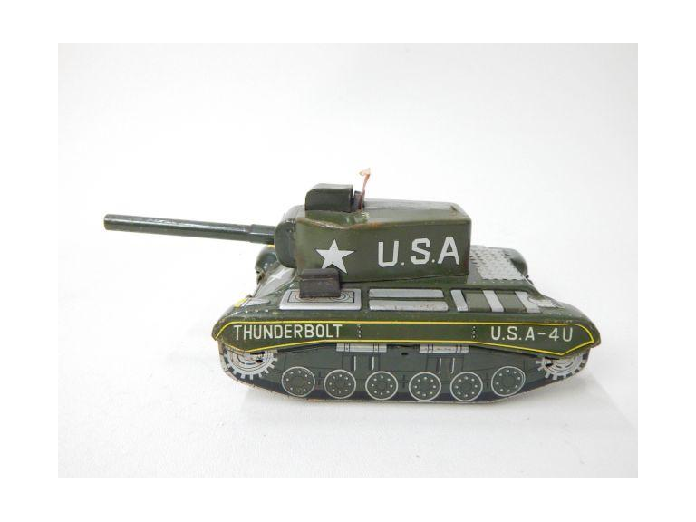 Tin Metal Cap Action Toy Tank