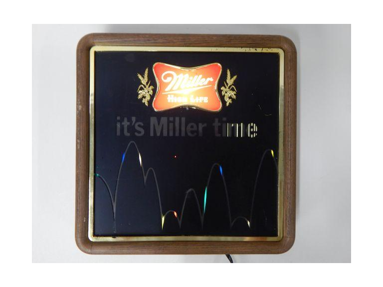 Miller Motion Light Beer Sign