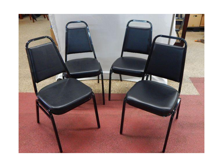 Stacking Black Vinyl Restaurant/Banquet Chairs