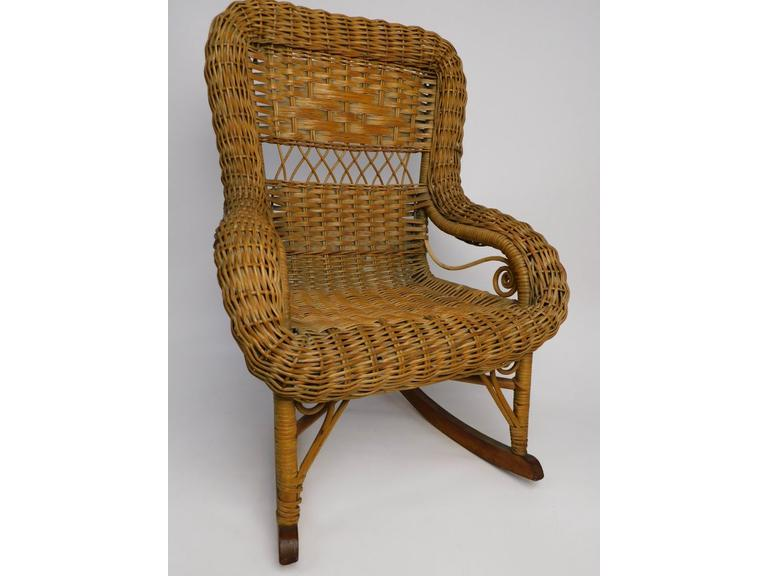 Vintage Child's Wicker Rocker