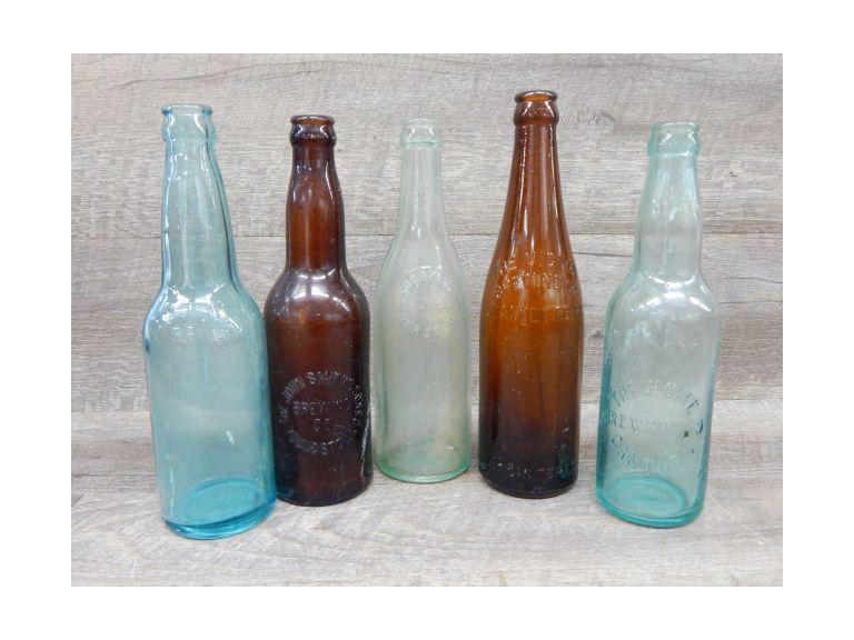 Collection of Antique Beer Bottles