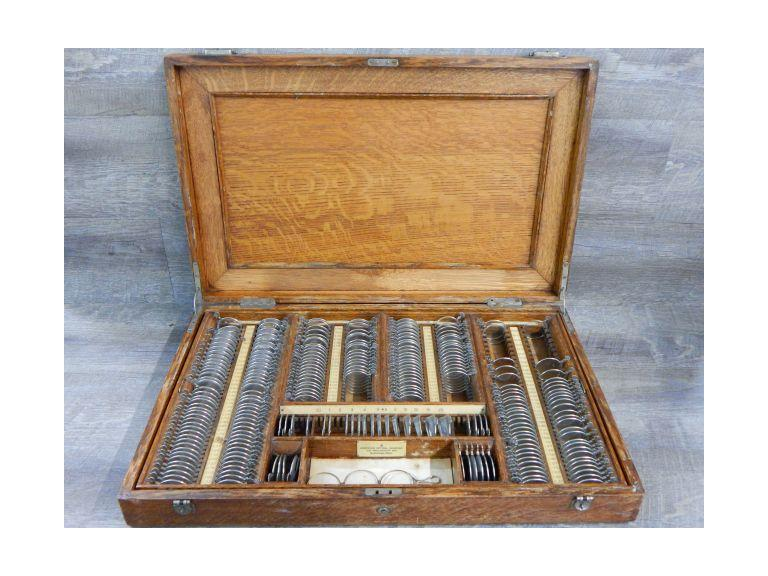 Antique Optometrist Wooden Lens Case
