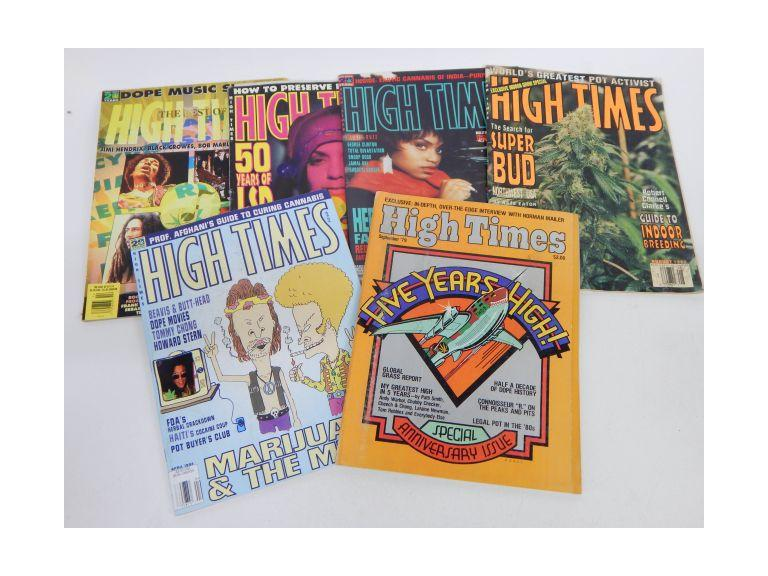 Collection of High Times Magazines