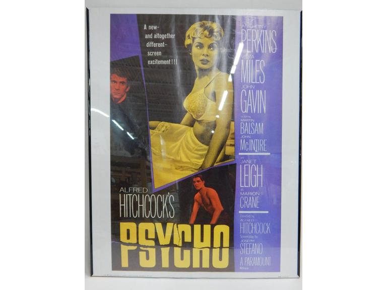 Hitchcock's Psycho Movie Poster