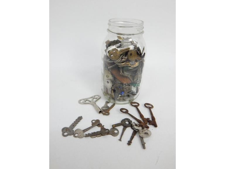 Jar full of old and Antique Keys