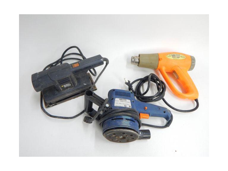 Electric Sanders and Heat Gun