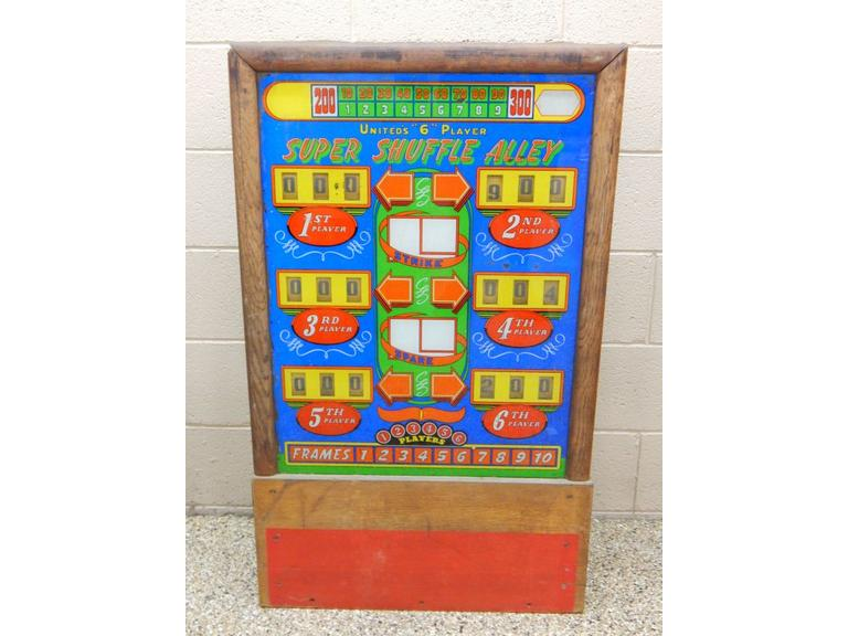 Vintage Bowling Machine Score Board