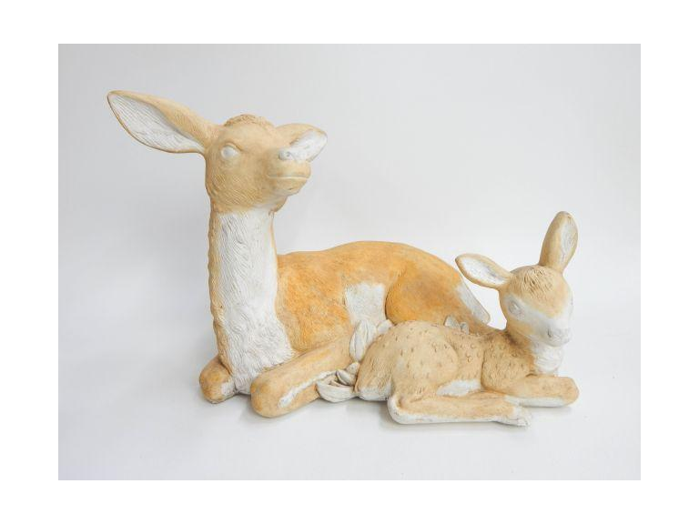Solid Cast Ceramic Deer Statue
