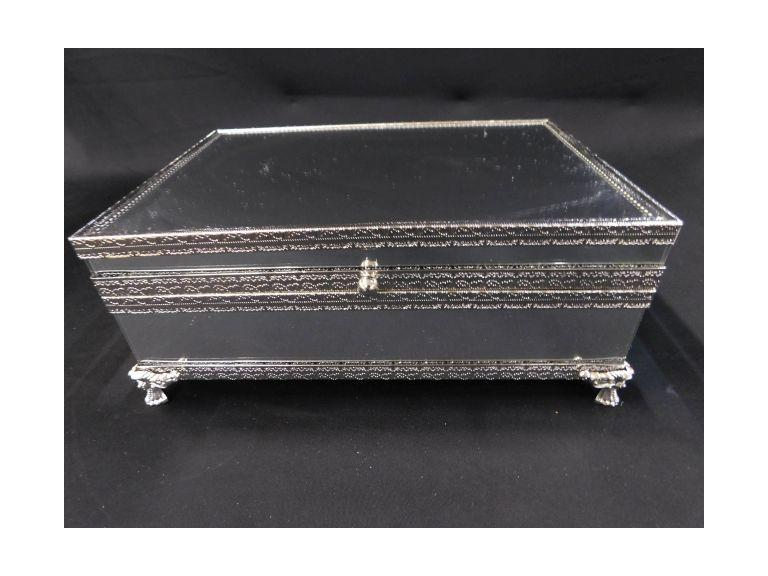 Mirror and Silverplate Jewelry Box