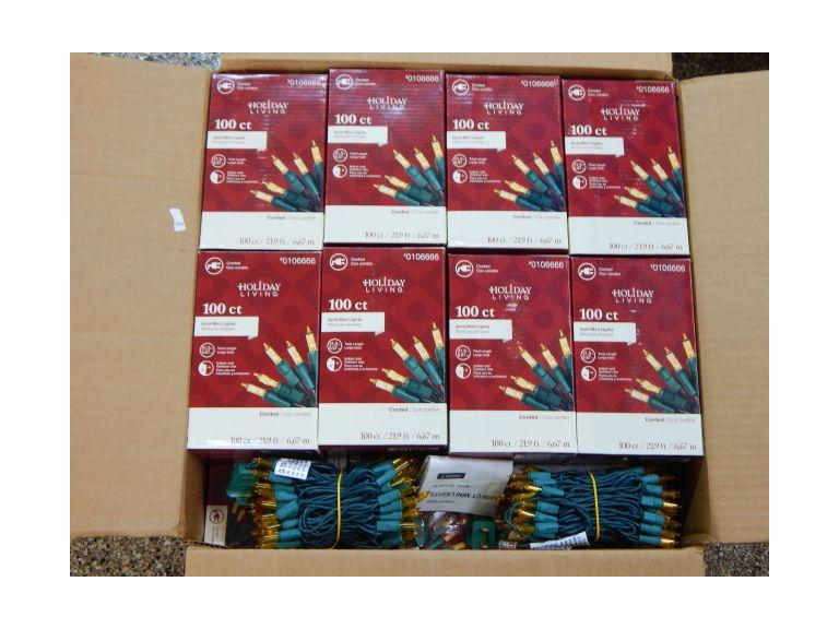 Box Lot of 50 New Strands of Holiday Lights