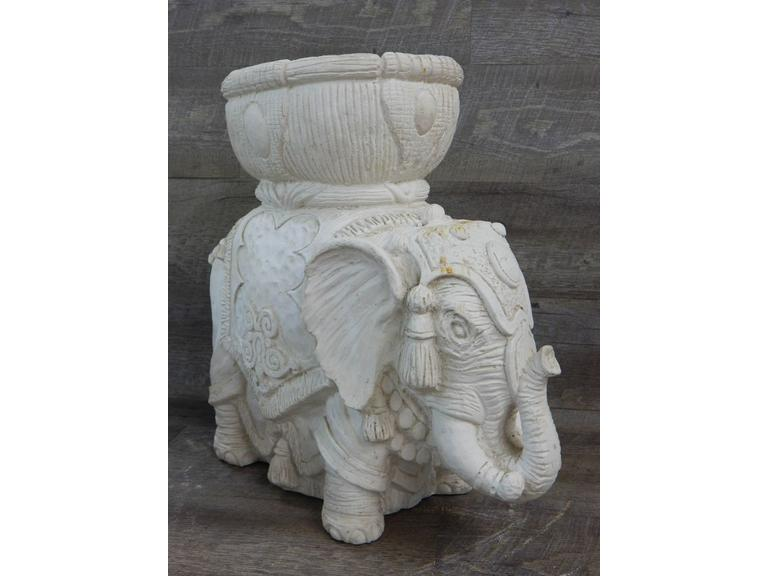 Cast Ceramic Elephant Planter