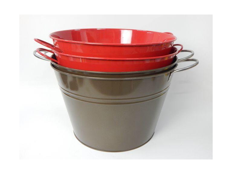 Large Metal 2-Handled Buckets