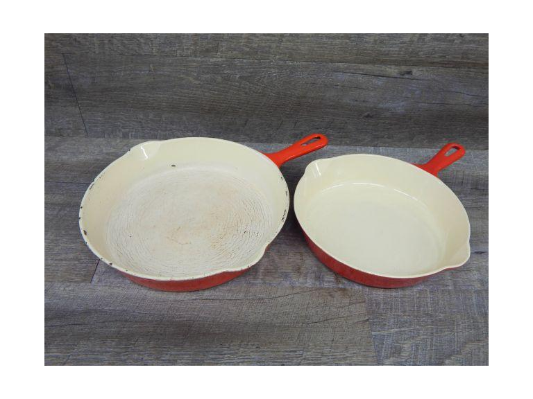 Griswold Enameled Cast Iron Skillets