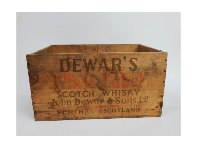 Old Dewar's Wooden Shipping Crate