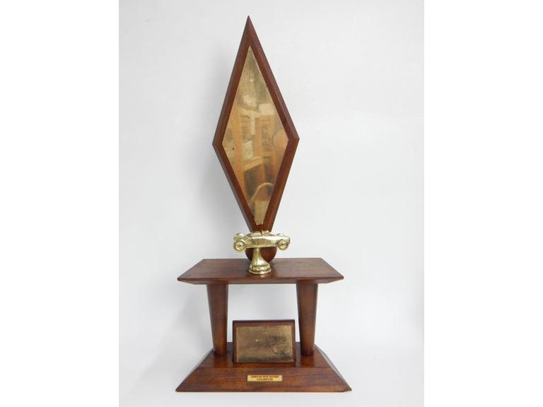 Tall Vintage Drag Racing Trophy