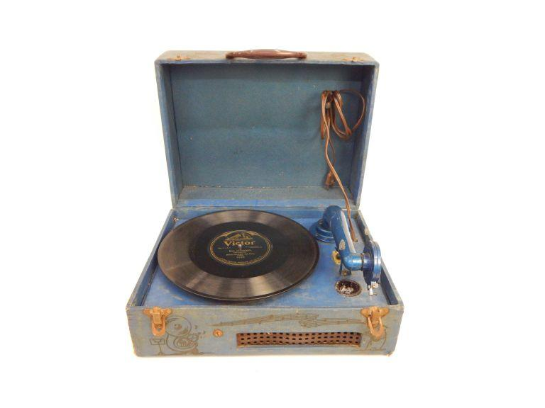 Vintage Portable Victrola Player