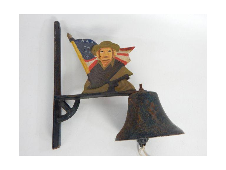 Cast Iron Patriotic Wall Bell