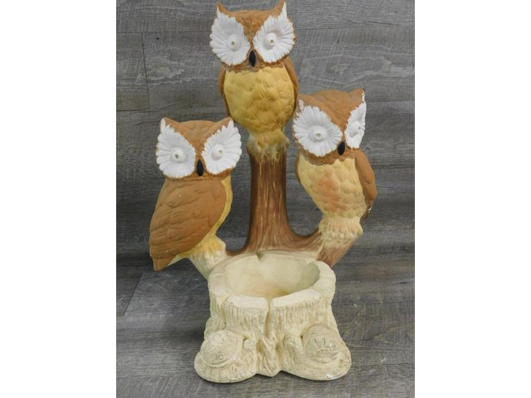 Solid Cast Ceramic Owl Statue