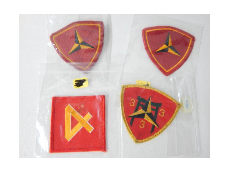 Marine 3rd and 4th Division Patches