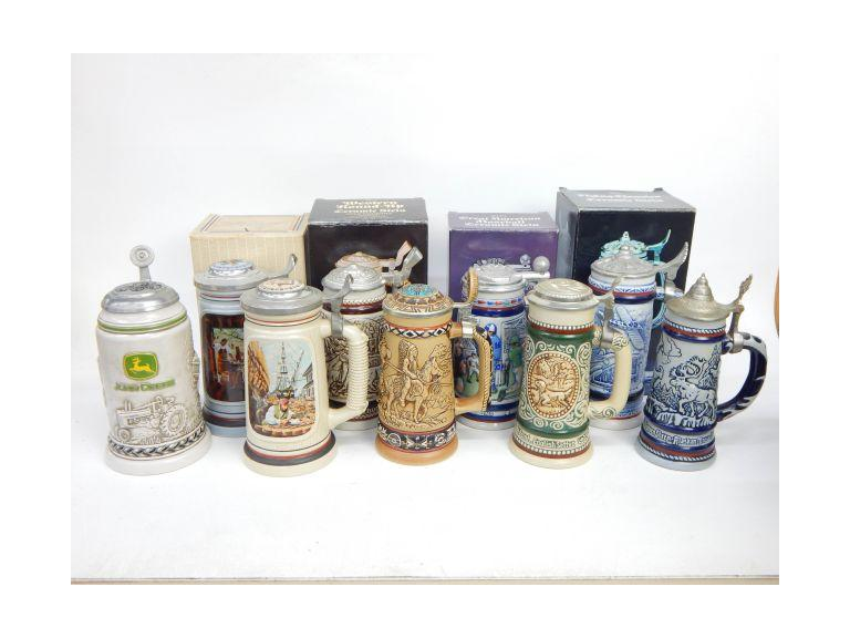 Large Collection of Beer Steins