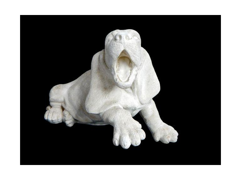 Solid Cast Ceramic Dog Statue