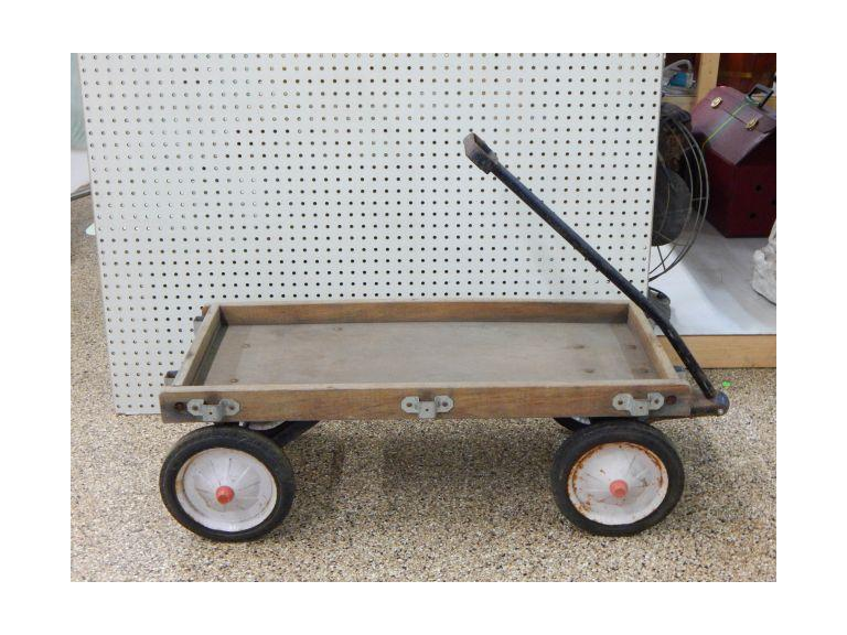 Old Wooden Toy Wagon